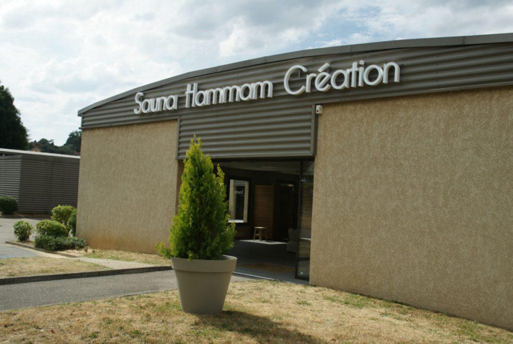 Façade de l'entreprise sauna hammam création